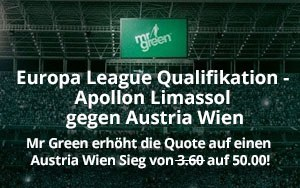 Qualifikation zur Europa League: Mr Green Sport mit verlockendem Angebot