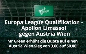 Qualifikation zur Europa League: Mr Green Sport mit verlockendem Angebot