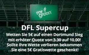 Mr Green Sport – Supercup: Viel Geld drin, wenn der BVB gewinnt