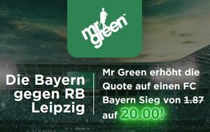 FC Bayern besiegt RB Leipzig – Top-Quote in Höhe von 20.00 für Neukunden von Mr Green Sport