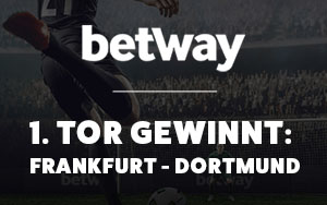 Exklusives Angebot bei Betway für das erste Tor bei Frankfurt vs. Dortmund