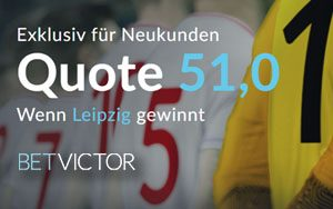 Champions League Spiel – Leipzig vs. Sankt Petersburg – Top Quote von 51.0 bei BetVictor