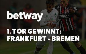 Spiel Frankfurt gegen Bremen – lukratives Betway-Wettangebot