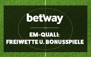 Jetzt bei Betway auf die EM-Qualifikation wetten und eine Freiwette sowie Bonusspiele erhalten