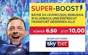Skybet stockt die Quote für Siege von Frankfurt, Gladbach und Leverkusen auf