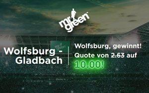 10.0-Quote bei Sieg von VFL Wolfsburg gegen Borussia Mönchengladbach