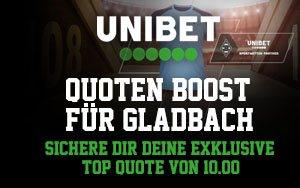 Bundesliga-Topspiel: Unibet mit verlockendem Angebot für den Sieg von Gladbach