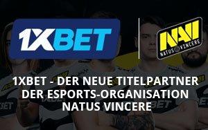 1xBet und die eSports-Organisation NAVI haben einen Sponsoringvertrag abgeschlossen
