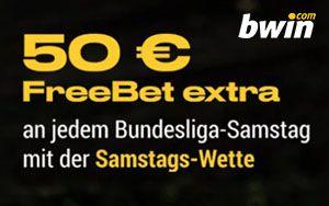 Bwin Promotion – bis zu 50 Euro Gratiswette mit Bundesliga Samstags-Wette