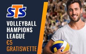 Rund um die Volleyball Champions League mit 5€ gratis bei STS wetten und gewinnen