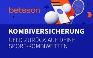 Geld zurück auf Sport-Kombiwetten mit der Kombiversicherung von Betsson