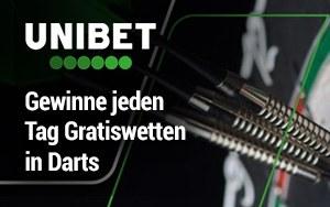 Die Bet and Get Aktion von Unibet und die Möglichkeit jeden Tag Gratiswetten in Darts zu gewinnen